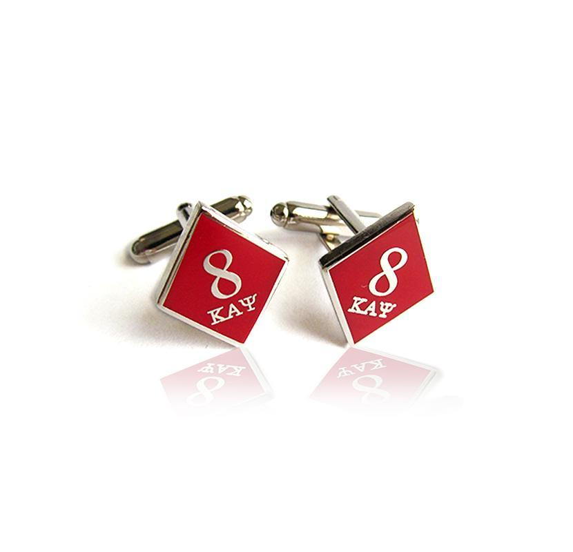 Kappa Alpha Psi 8 Klub Diamond Cufflinks