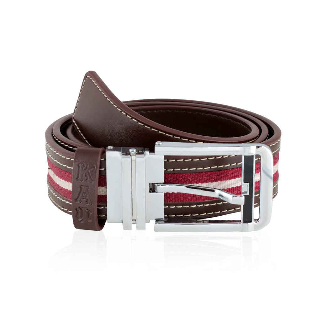 Kappa Alpha Psi Signature Stripe Cut-to-Size Belt (Brown)