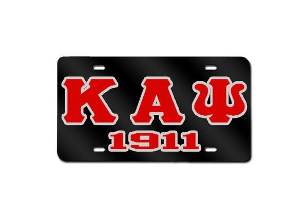 Kappa Alpha Psi Greek Letter - 1911 License Plate (Black)