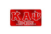 Kappa Alpha Psi Yo Nupe License Plate w/ Outline (Red or Silver)