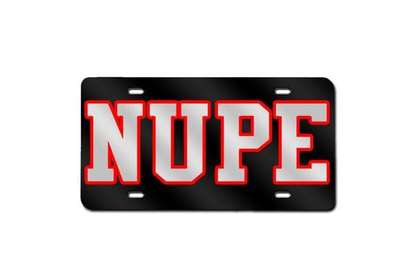 Kappa Alpha Psi NUPE License Plate (Black)