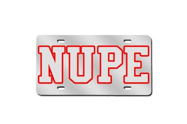 Kappa Alpha Psi NUPE License Plate w/ Outline (Red or Silver)