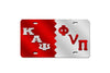 Kappa Alpha Psi Phi Nu Pi  Greek Letter Split License Plate (Red or Silver)