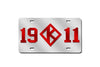 Kappa Alpha Psi 1911 - Diamond K License Plate (Red or Silver))