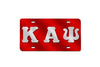 Kappa Alpha Psi Greek Letter License Plate (Red or Silver)