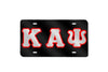 Kappa Alpha Psi Greek Letter License Plate  (Black)
