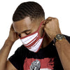 Kappa Alpha Psi Diamond Phi Nu Pi Face Covering (White)