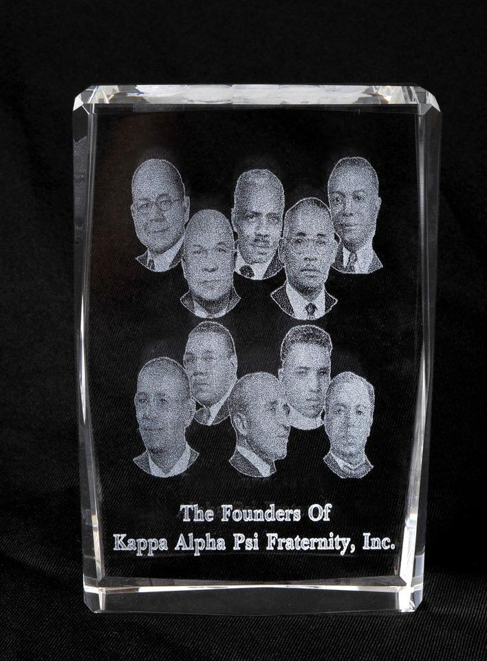 Kappa Alpha Psi Laser Etched Founders Crystal