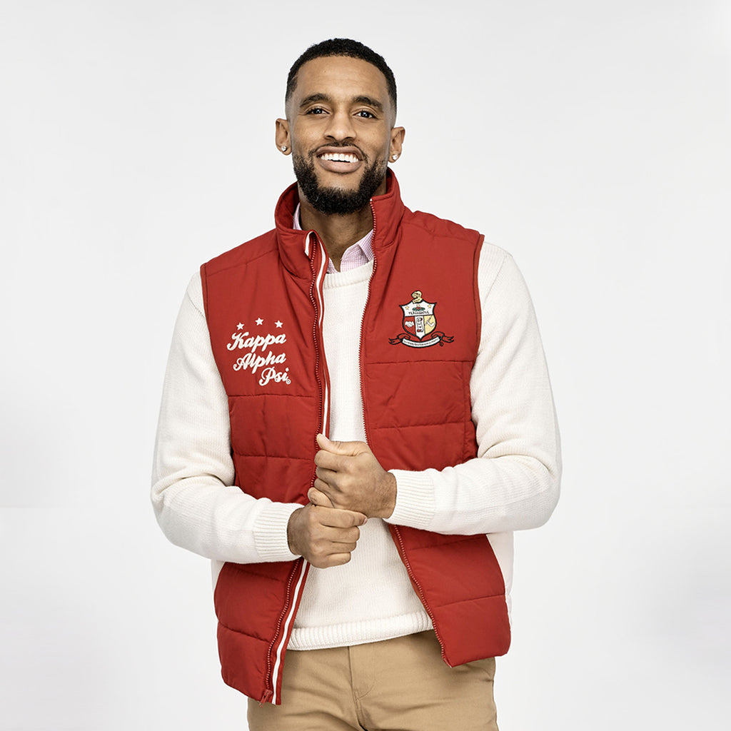 Kappa Alpha Psi Coat of Arms Puffer Vest