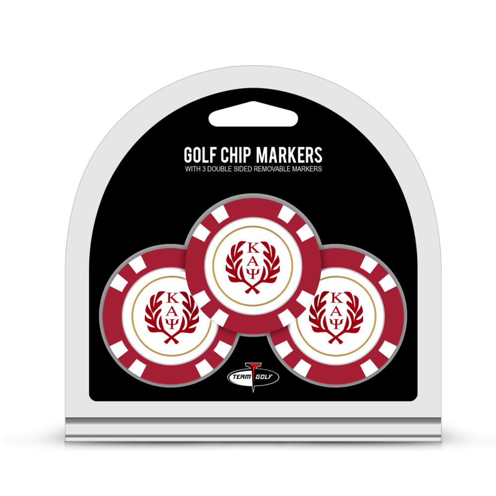 Kappa Alpha Psi 3-Pack Golf Chip Ball Marker Set