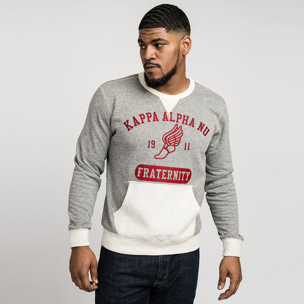 Kappa Alpha Psi Kappa Alpha Nu Fraternity Crewneck (Grey/Cream)