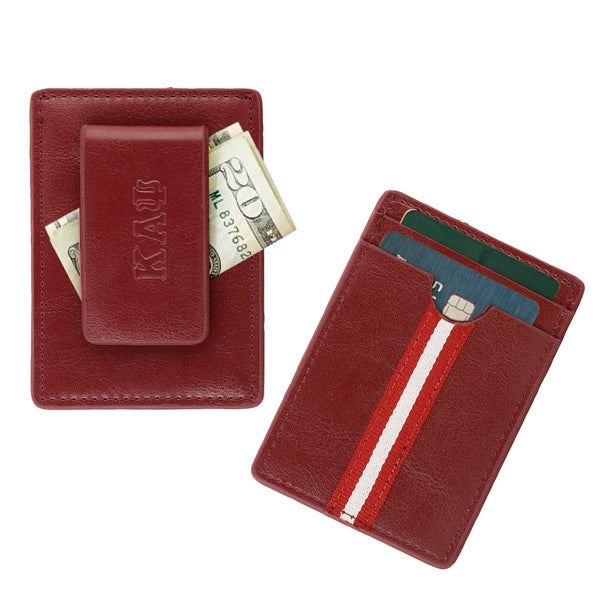 Kappa Alpha Psi Signature Stripe Money Clip Wallet