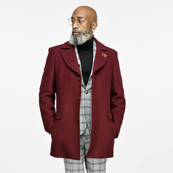 Kappa Alpha Psi Signature Stripe Wool Coat