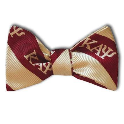Kappa Alpha Psi Striped Greek Letter Bow Tie