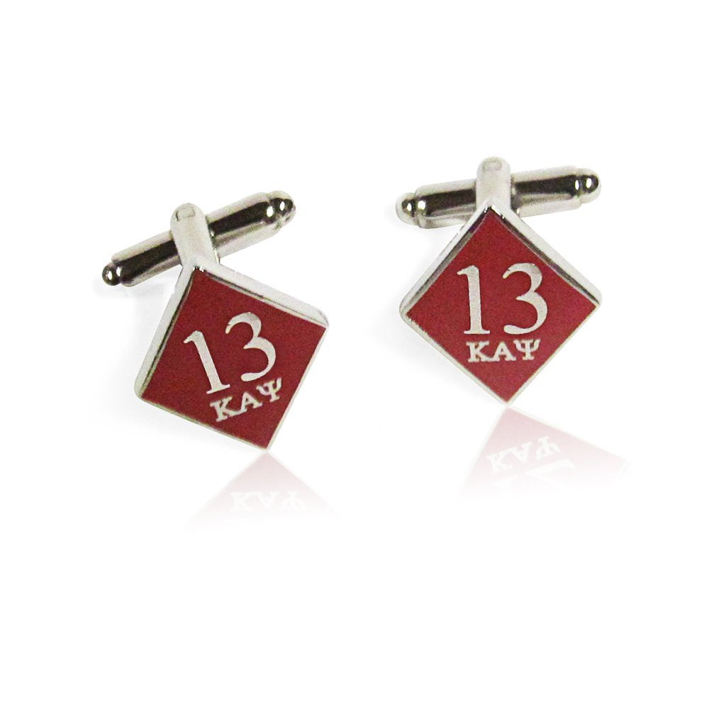 Kappa Alpha Psi 13 Klub Diamond Cufflinks