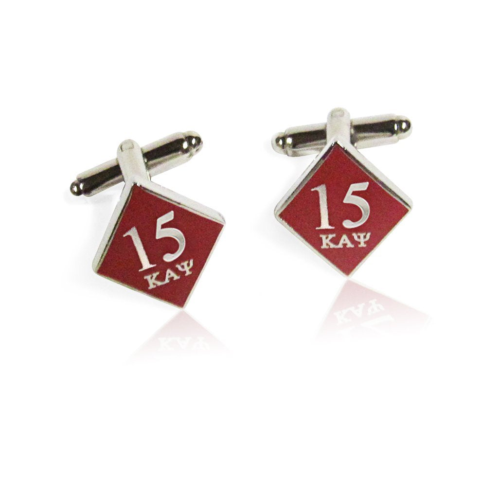 Kappa Alpha Psi 15 Klub Diamond Cufflinks