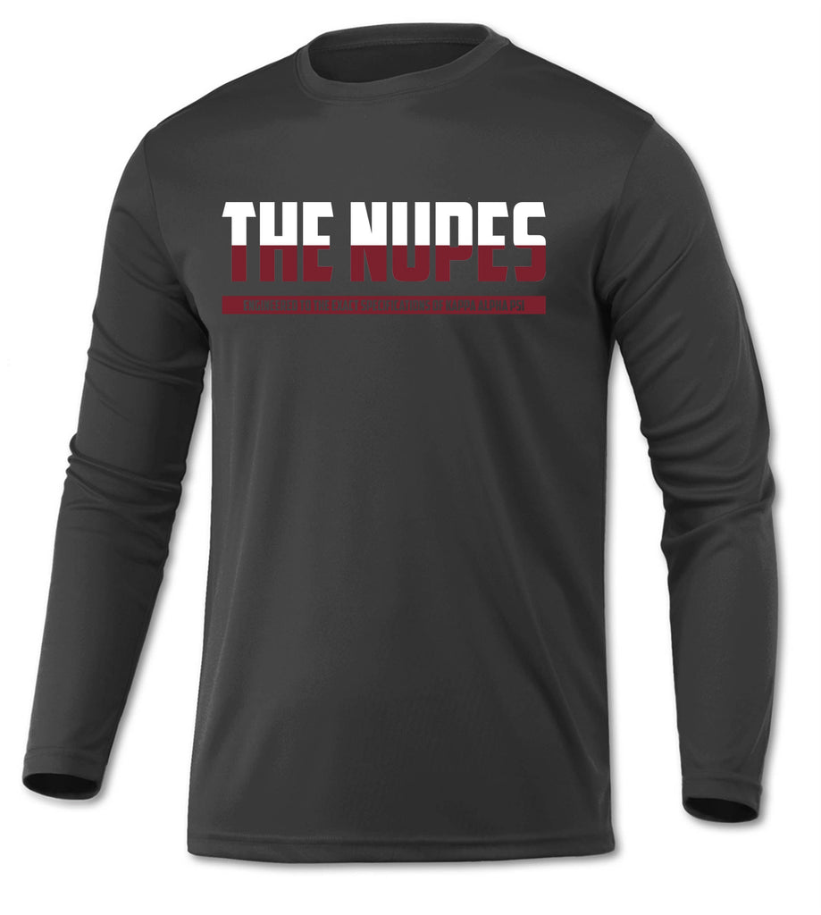 Kappa Alpha Psi The Nupes  DriFit Long Sleeve Shirt (Charcoal)