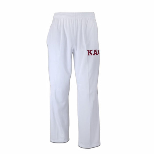 Kappa Alpha Psi Greek Letter Track Pants (White)