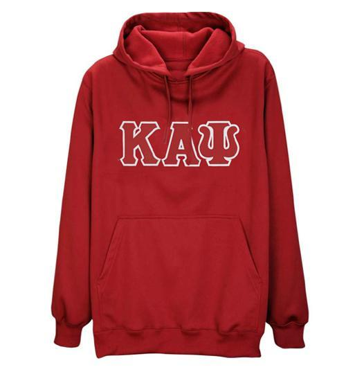 Kappa Alpha Psi 3-Letter Pullover Hoodie (Red)