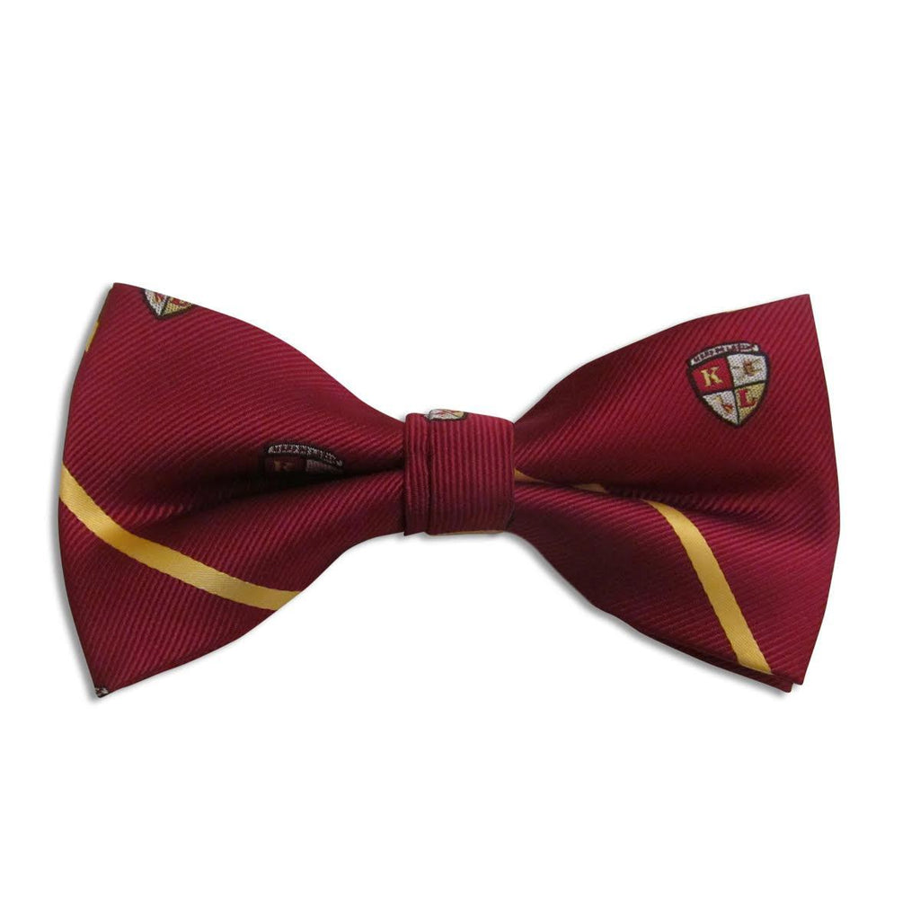 Kappa League Striped Shield Bow Tie