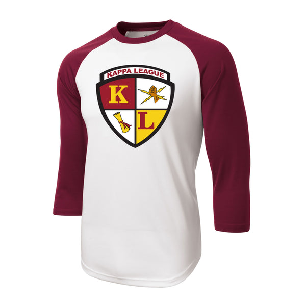 Kappa League Crest Baseball Tee (Maroon)