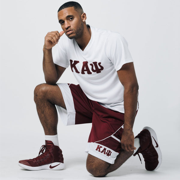 Kappa Alpha Psi V-Neck Jersey Shirt (White)