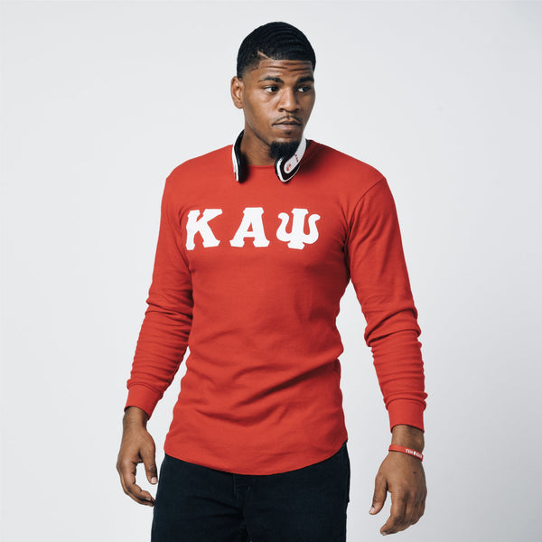 Kappa Alpha Psi Long Sleeve Thermal Shirt (Red)