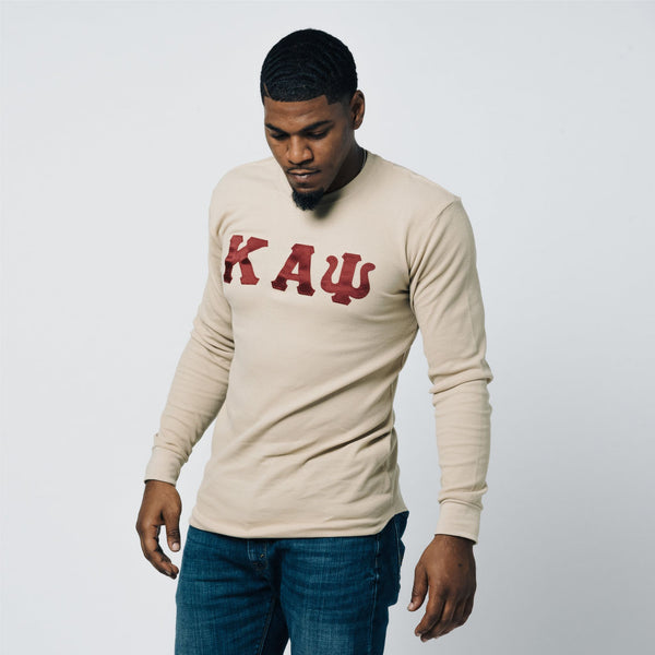 d92a4836cf8 Kappa Alpha Psi Long Sleeve Thermal Shirt (Tan)