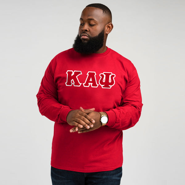 Kappa Alpha Psi Long Sleeve 3-Letter Tee (Red)