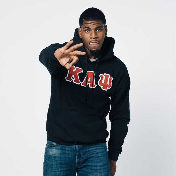 Kappa Alpha Psi 3-Letter Pullover Hoodie (Black)