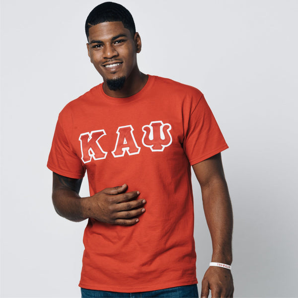 Kappa Alpha Psi 3-Letter Tee (Red or Black)