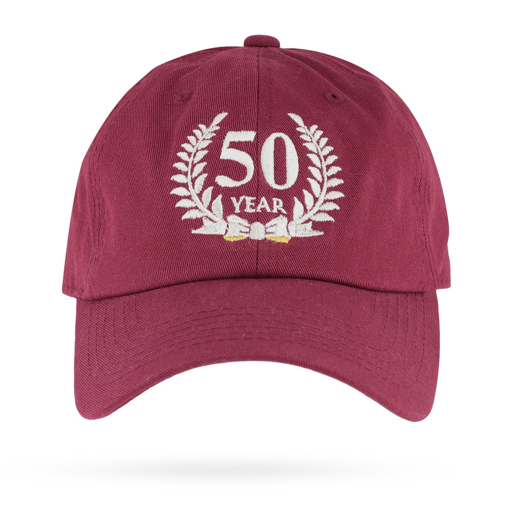 Kappa Alpha Psi 50 Year Member Adjustable Dad Cap (Krimson or Cream)