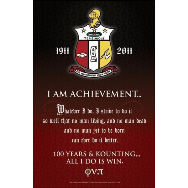 Kappa Alpha Psi I Am Achievement Poster