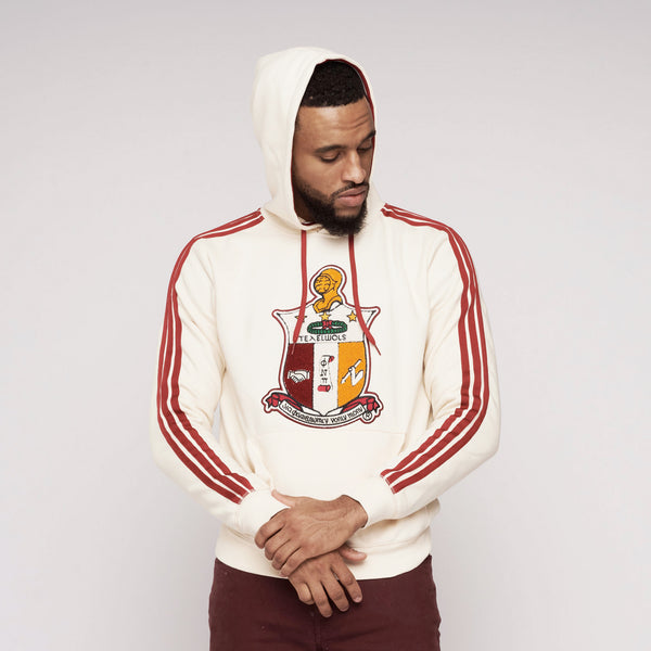 Kappa Alpha Psi Coat of Arms Chenille Hoodie (Cream)