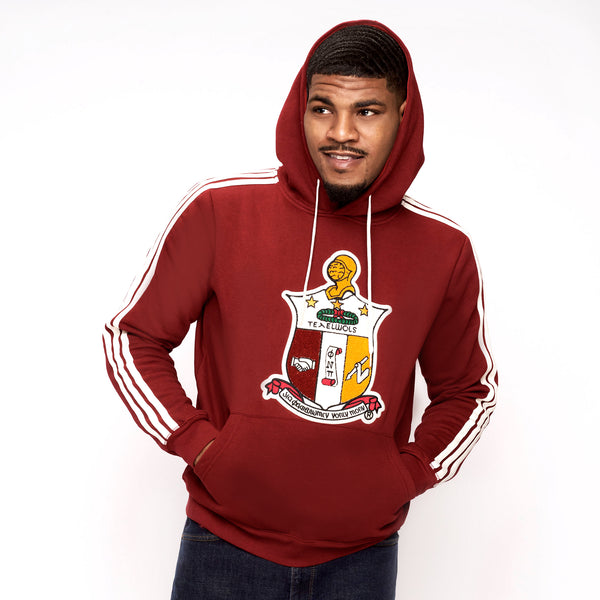 Kappa Alpha Psi Coat of Arms Chenille Hoodie (Krimson)