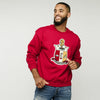 Kappa Alpha Psi Chenille Coat of Arms Crewneck Sweatshirt (Krimson)