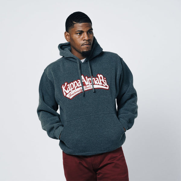 99091182a4e Kappa Alpha Psi Grey Chenille Pullover Hoodie