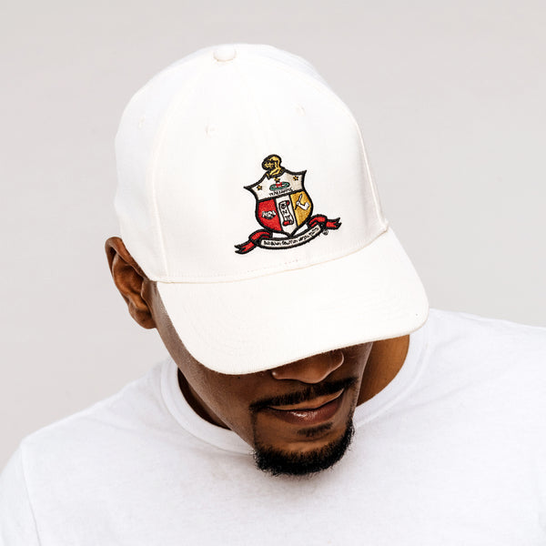 Kappa Alpha Psi Coat of Arms Flex Fitted Hat (Cream)
