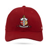 Kappa Alpha Psi Coat of Arms Flex Fitted Hat (Krimson)