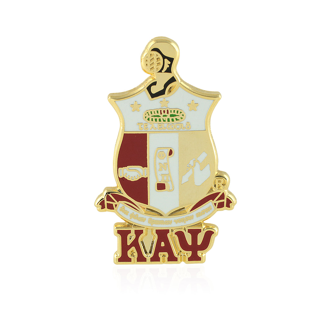Kappa Alpha Psi Coat of Arms Greek Letter Lapel Pin