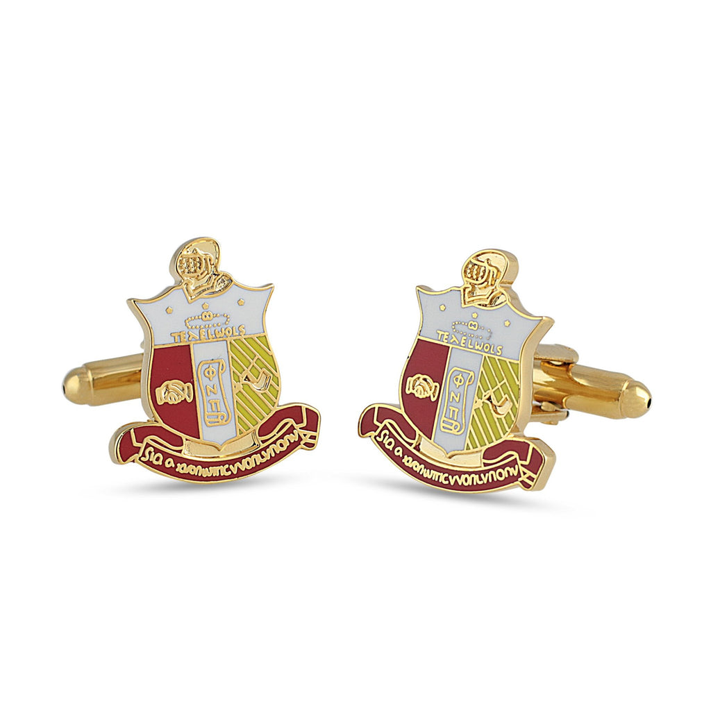 Kappa Alpha Psi Coat of Arms Cufflinks (Full Color)