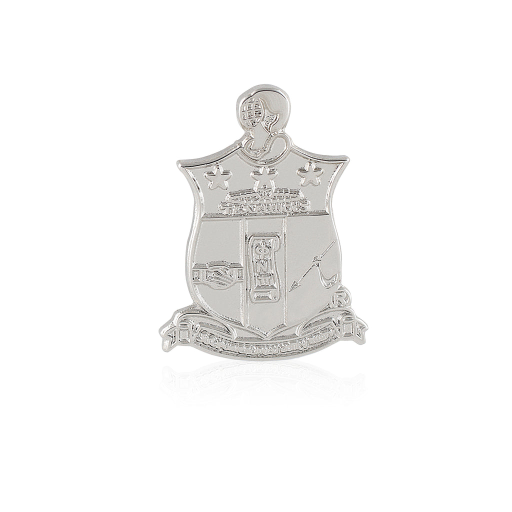 Kappa Alpha Psi Coat of Arms Lapel Pin (Silver)