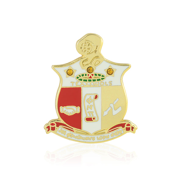 Kappa Alpha Psi Coat of Arms Swarovski Crystal Lapel Pin