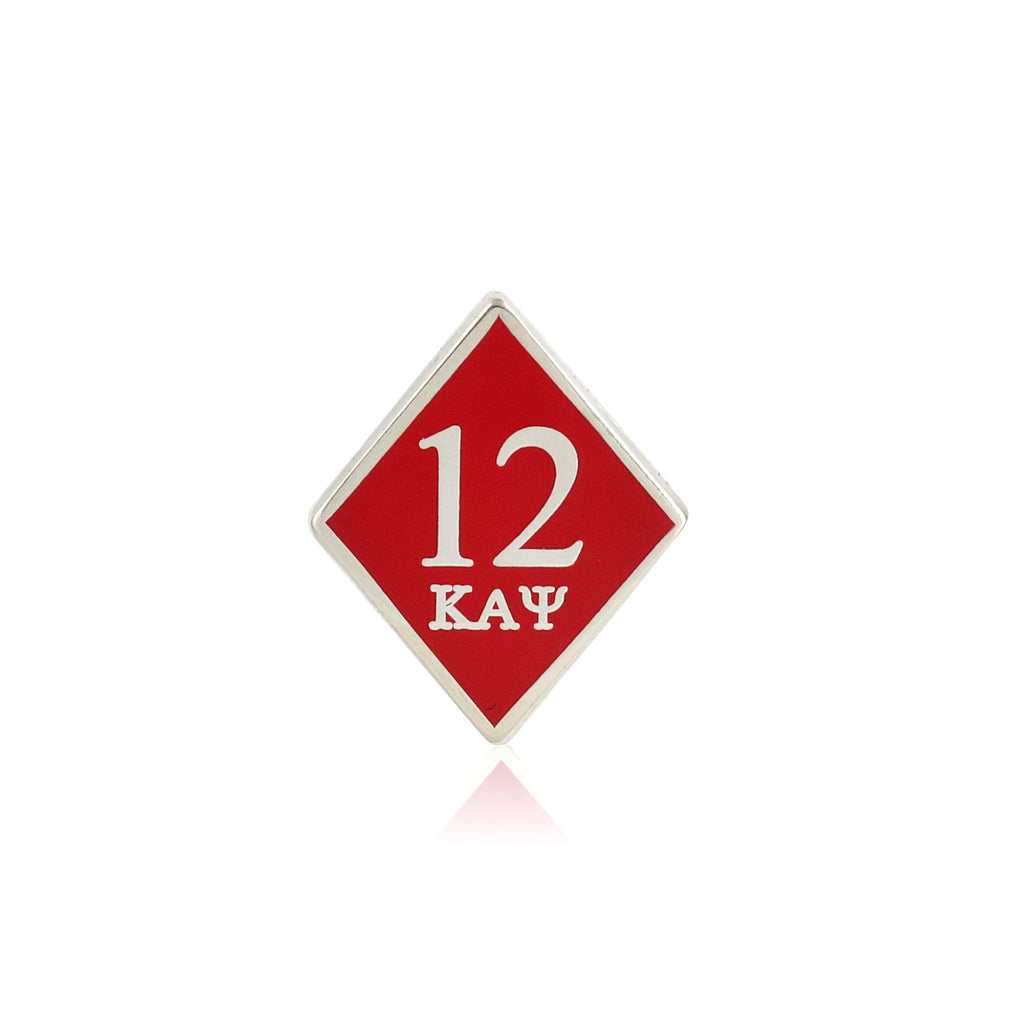 Kappa Alpha Psi 12 Klub Diamond Lapel Pin