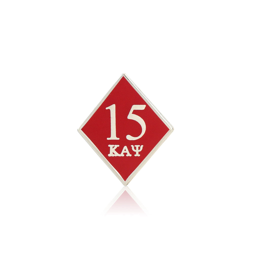 Kappa Alpha Psi 15 Klub Diamond Lapel Pin