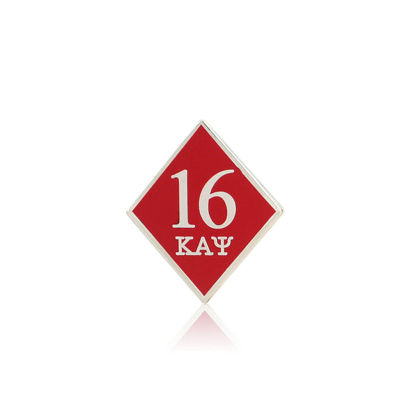 Kappa Alpha Psi 16 Klub Diamond Lapel Pin