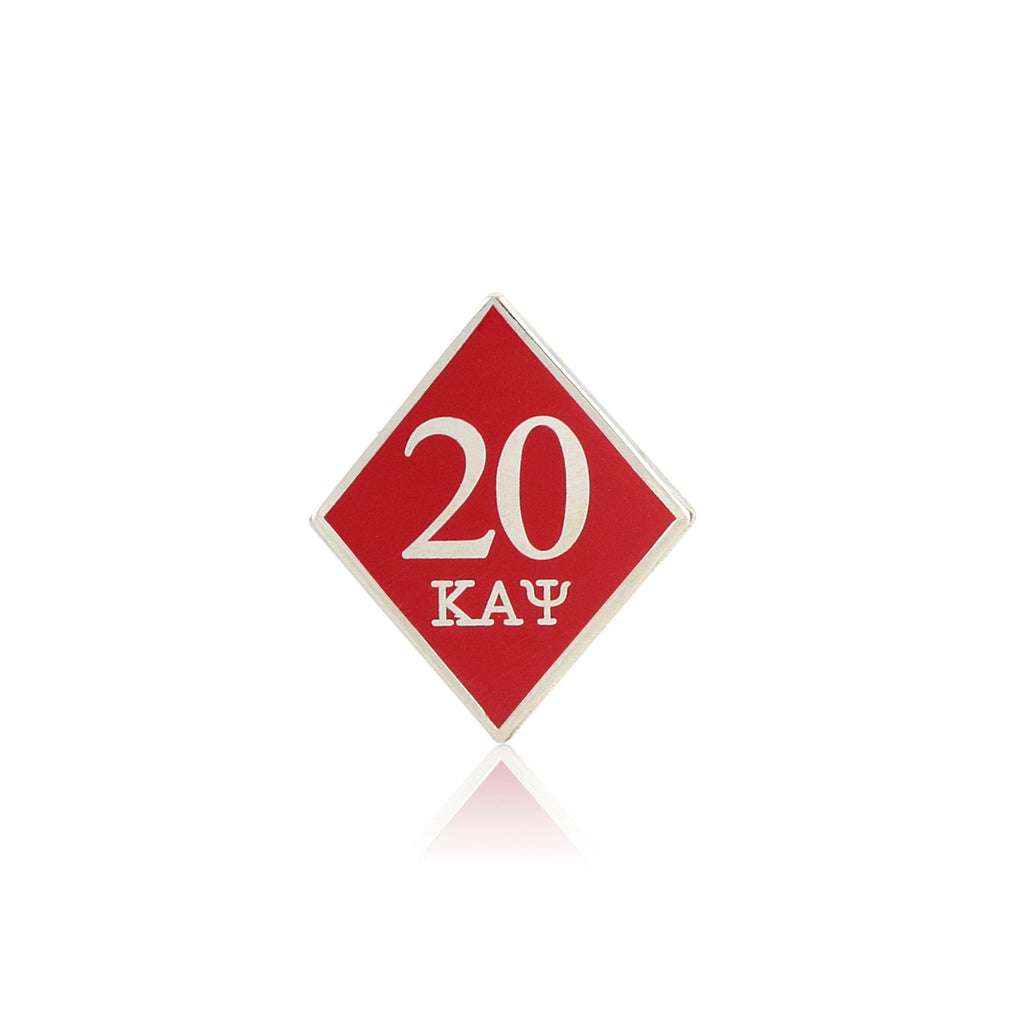 Kappa Alpha Psi 20 Klub Diamond Lapel Pin