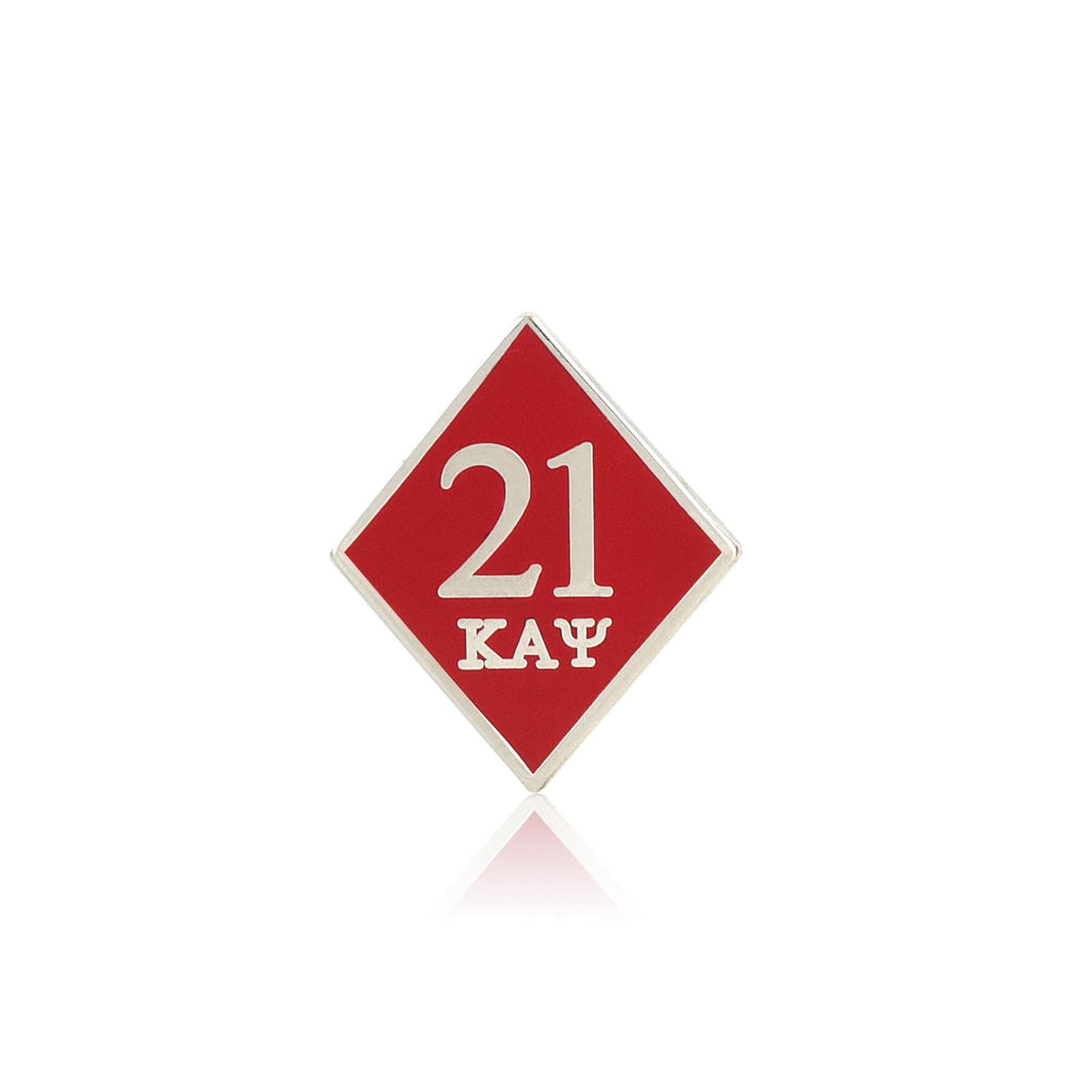 Kappa Alpha Psi 21 Klub Diamond Lapel Pin