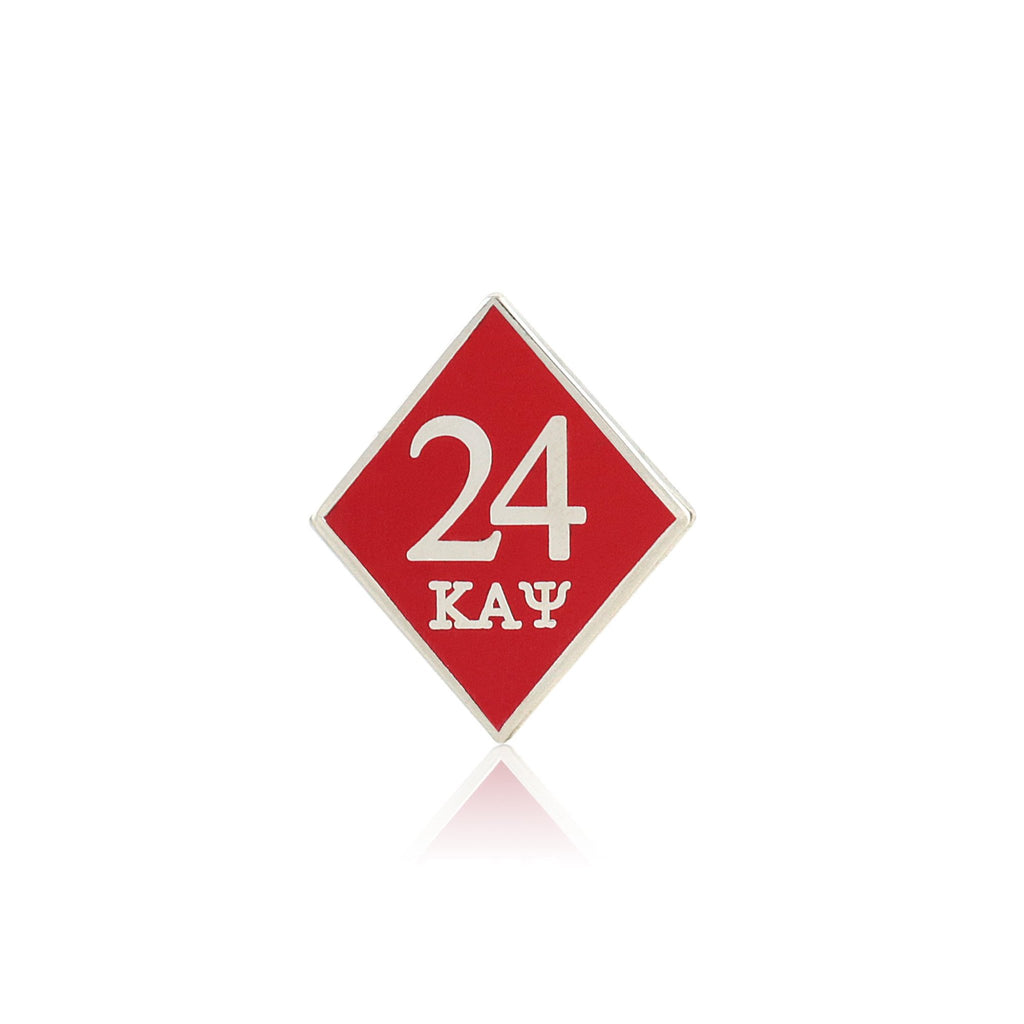 Kappa Alpha Psi 24 Klub Diamond Lapel Pin