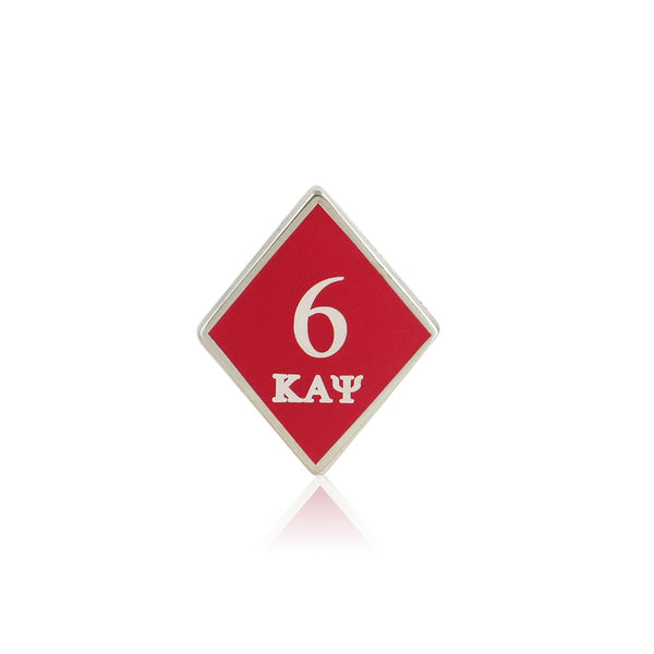 Kappa Alpha Psi 6 Klub Diamond Lapel Pin